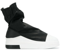 High-Top-Sneakers mit Raffung
