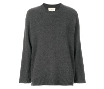 ribbed trim loose fit jumper