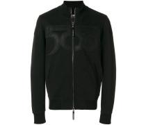 500 applique zipped sweatshirt