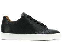 pebbled mid top sneakers