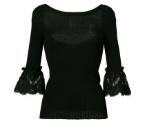 lace detail bell sleeve top