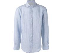 striped shirt - men - Baumwolle/Leinen/Flachs