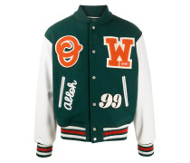Collegejacke mit Logo-Patches