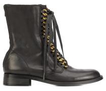 - Stiefel mit Zierketten - women - Leder/rubber