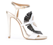 Stiletto-Sandalen mit Fransen