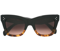 Schildpatt-Sonnenbrille mit Farbverlauf