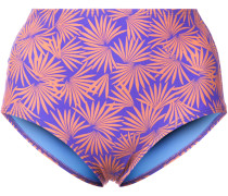 Tropical print bikini bottoms