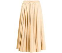 pleated tied-waist skirt
