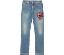 Jeans mit Stickerei - men - Baumwolle - 32