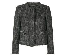 Tweed-Jacke mit Reißverschlusstaschen