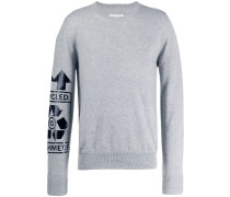 """Pullover mit """"Recycled""""-Print"""