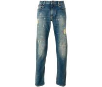 Jeans mit Farbklecks-Print - men