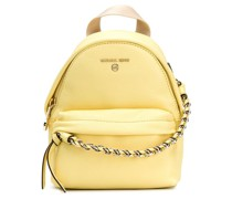 calf leather backpack with chain-link detailing