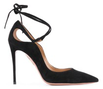 ankle-tie 105mm stiletto pumps