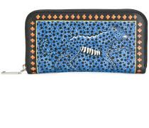 cheetah print continental wallet