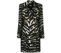 button-embellished zebra coat