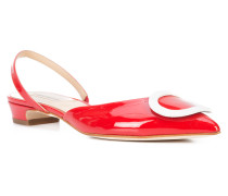 buckled pointed slingback flats