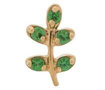 18kt Goldhalskette mit Olivenzweiganhänger
