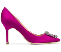 Verzierte Satin-Pumps