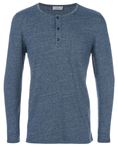 Langarmshirt mit Henley-Details