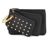 Black Triplette Leather clutch bag