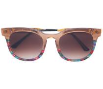 printed square sunglasses