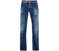Halbhohe Straight-Leg-Hose