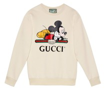 x Disney Sweatshirt mit Micky-Print