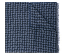 dogtooth scarf - men - Wolle/Seide