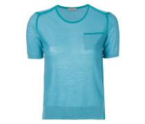 contrast panel T-shirt