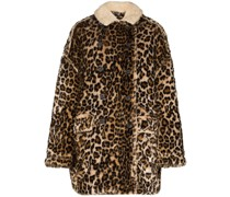 Hunting Leopard Print Faux Fur Coat
