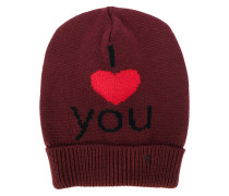 I Love You embroidered beanie