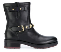 star strap ankle boots