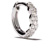 14kt Weißgoldcreolen mit Diamanten
