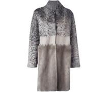 Mantel mit Persianer- und Nerzpelzeinsätzen
