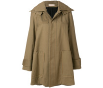 hooded swing coat
