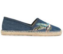 Espadrilles mit Jeansbesatz
