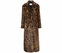 Kylie leopard faux-fur coat