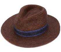 Strohhut mit blauen Streifen - men - Stroh - L