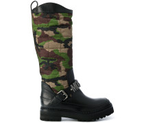 camouflage quilted boots