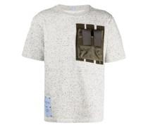 Meliertes T-Shirt mit Brusttasche