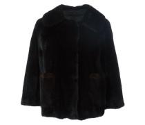 'Cocotte' Cropped-Jacke mit Nerzbesatz