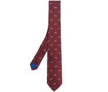 eye print tie