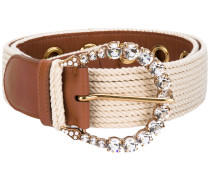 embellished buckle belt - women