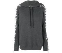 panelled sleeve zip hoodie