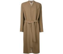 - Mittellanger Mantel mit Gürtel - women