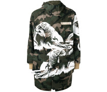 Camouflage-Mantel mit Panther-Print - men