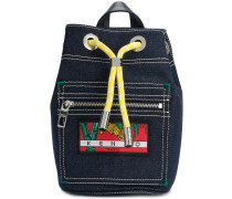tiger patch drawstring backpack