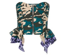 Corsage mit Camouflage-Muster