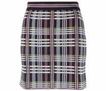 plaid-check mini skirt